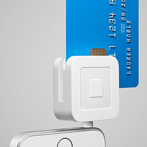 Square reading credit card with chip
