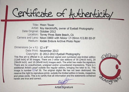 Selling your art at an art show or festival for Limited edition print certificate of authenticity template